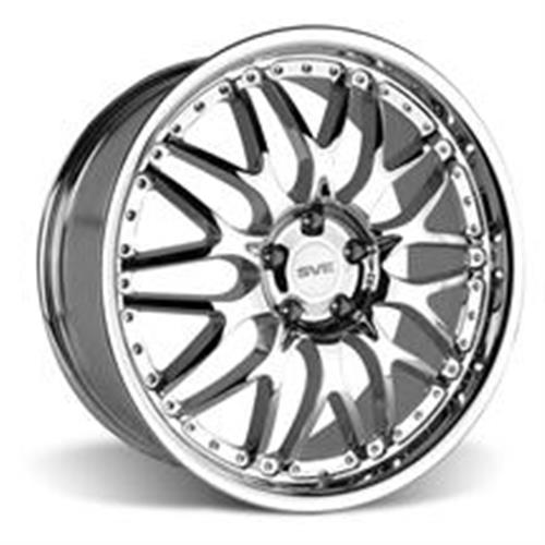 SVE Mustang Series 3 Wheel & Tire Kit - 20x8.5/10 Chrome (15-16) Nitto Invo