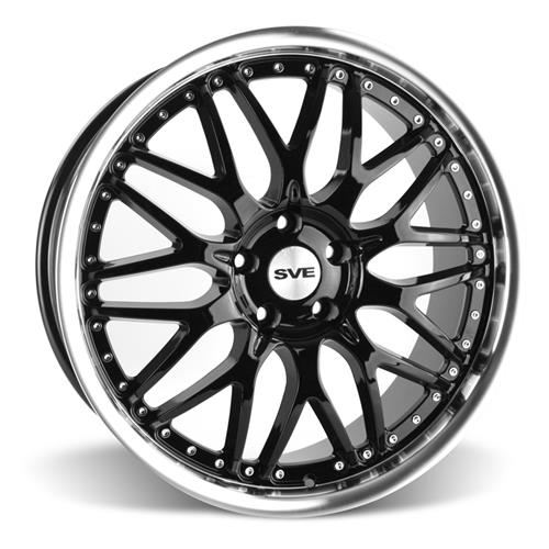 SVE Mustang Series 3 Wheel & Tire Kit - 20x8.5/10 Gloss Black (05-14) Nitto NT05