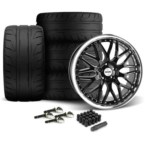 SVE Mustang Series 3 Wheel & Tire Kit - 20x8.5/10 Gloss Black (15-16) Nitto NT05