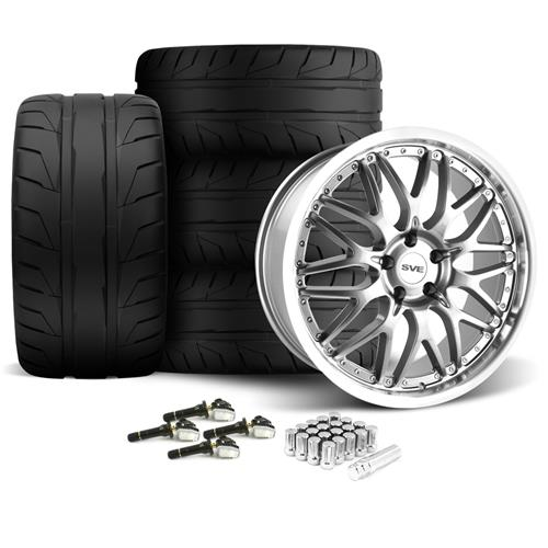 SVE Mustang Series 3 Wheel & Tire Kit - 20x8.5/10 Gun Metal (15-16) Nitto NT05