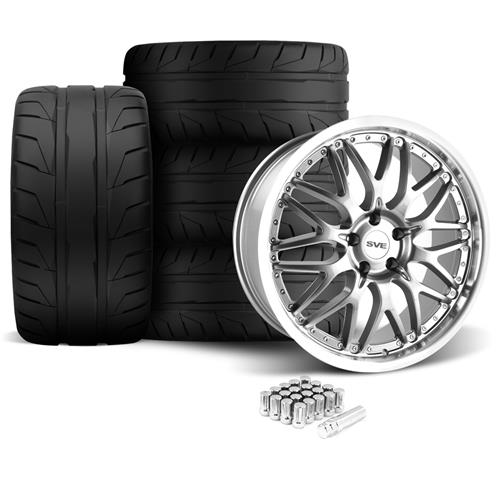 SVE Mustang Series 3 Wheel & Tire Kit - 20x8.5/10 Gun Metal (05-14) Nitto NT05