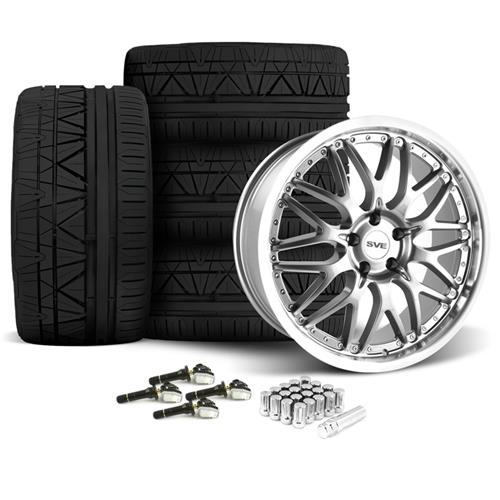 SVE Mustang Series 3 Wheel & Tire Kit - 20x8.5/10 Gun Metal (15-16) Nitto Invo