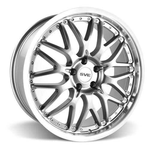 SVE Mustang Series 3 Wheel & Tire Kit - 20x8.5/10 Gunmetal w/ Mirror Lip (15-16) Nitto Invo