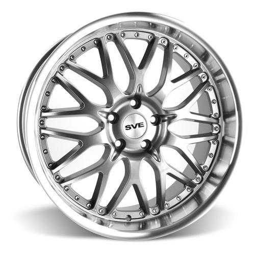SVE Mustang Series 3 Wheel & Tire Kit - 20x8.5/10 Gunmetal w/ Mirror Lip (15-16) Ohtsu