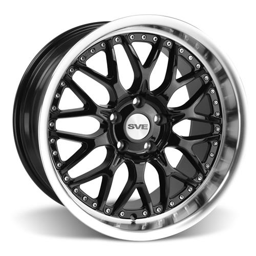 SVE Mustang Series 3 Wheel & Tire Kit - 18x9/10 Gloss Black (94-04) Nitto NT555 - SVE Mustang Series 3 Wheel & Tire Kit - 18x9/10 Gloss Black (94-04) Nitto NT555