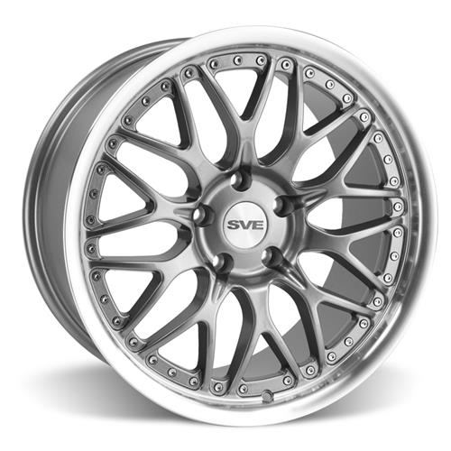 SVE Mustang Series 3 Wheel & Tire Kit - 18x9/10 Gun Metal (94-04) Nitto NT555