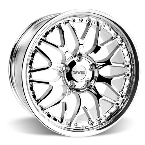 SVE Mustang Series 3 Wheel & Tire Kit - 19x9/10 Chrome (05-14) Invo