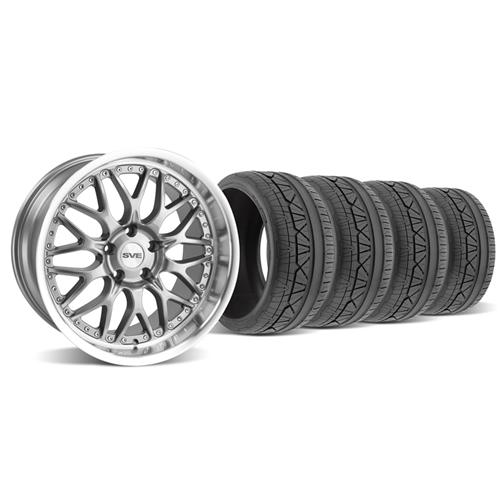 SVE Mustang Series 3 Wheel & Tire Kit - 19x9/10 Gun Metal (05-14) Invo