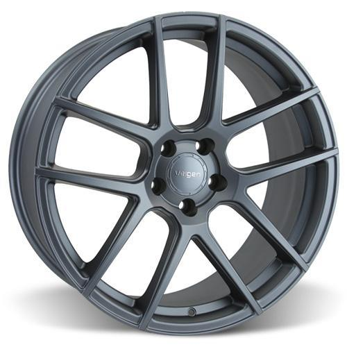 Velgen Mustang VMB5 Wheel & Tire Kit - 20x9/10.5  - Matte Gunmetal - M/T Street Comp Tires (15-17)
