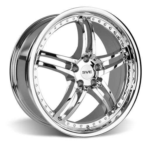 SVE Mustang Series 2 Wheel & Tire Kit - 20X8.5/10 Chrome (05-14) Nitto Invo