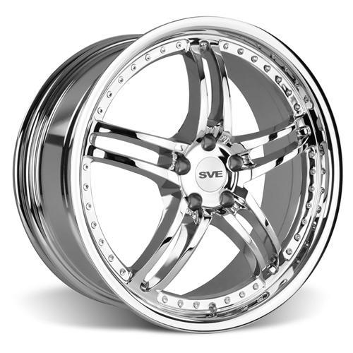 SVE Mustang Series 2 Wheel & Tire Kit - 20X8.5/10 Chrome (15-16) Nitto Invo
