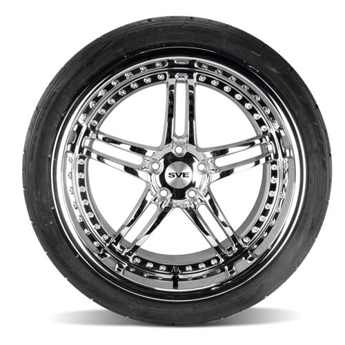 SVE Mustang Series 2 Wheel & Tire Kit - 20X8.5/10 Chrome (05-14) Nitto NT555 G2