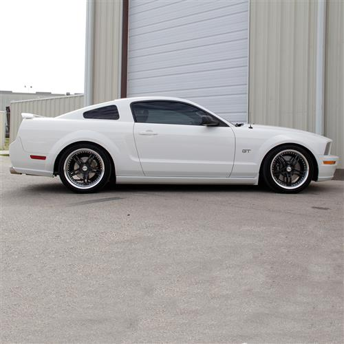 SVE Mustang Series 2 Wheel & Tire Kit - 20X8.5/10 Black w/ Machined Lip (05-14) Ohtsu