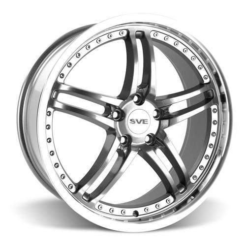 SVE Mustang Series 2 Wheel & Tire Kit - 20X8.5/10 Gunmetal w/ Mirror Lip (15-16) Nitto Invo