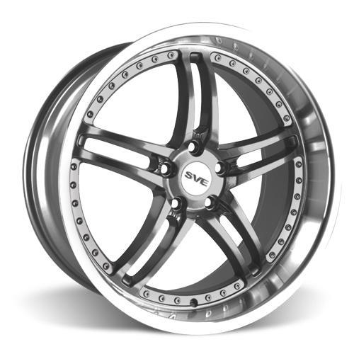 SVE Mustang Series 2 Wheel & Tire Kit - 20X8.5/10 Gunmetal w/ Mirror Lip (15-16) Nitto NT555