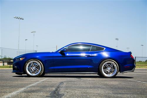 SVE Mustang Series 2 Wheel & Tire Kit - 20X8.5/10 Gunmetal w/ Mirror Lip (15-16) Nitto NT05