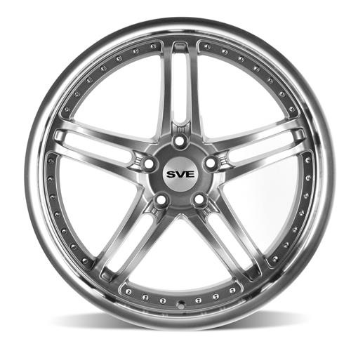 SVE Mustang Series 2 Wheel & Tire Kit - 20x8.5/10 Gun Metal w/ Machined Lip (15-17) Nitto Invo