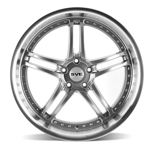 SVE Mustang Series 2 Wheel & Tire Kit - 20x8.5/10 Gun Metal w/ Machined Lip (05-14) Ohtsu