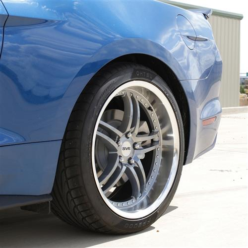 SVE Mustang Series 2 Wheel & Tire Kit - 20x8.5/10 Gun Metal w/ Machined Lip (15-17) Ohtsu