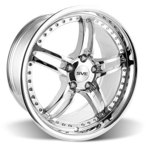 SVE Mustang Series 2 Wheel & Tire Kit - 18x9/10 Chrome (94-04) Nitto NT555 - SVE Mustang Series 2 Wheel & Tire Kit - 18x9/10 Chrome (94-04) Nitto NT555