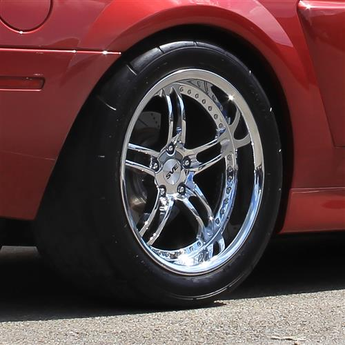 SVE Mustang Series 2 Wheel & Tire Kit - 18x9/10  - Chrome - NT555 G2 Tires (94-04)