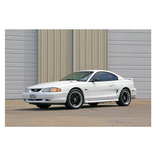 "SVE Mustang Series 2 Wheel & Tire Kit - 18x9/10"" Black w/ Polished Lip (94-04)"