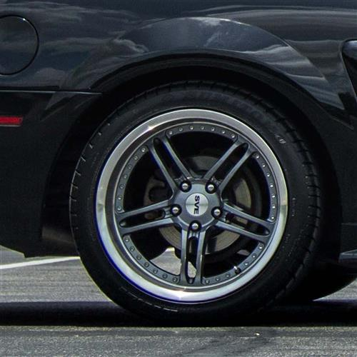 SVE Mustang Series 2 Wheel & Tire Kit - 18x9/10  - Gun Metal - NT555 G2 Tires (94-04)