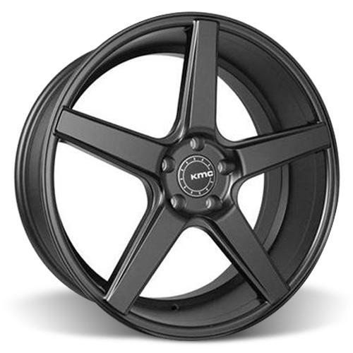 KMC Mustang 685 District Wheel & Tire Kit - 20x8.5/10.5   - Satin Black - Nitto G2 (05-14)