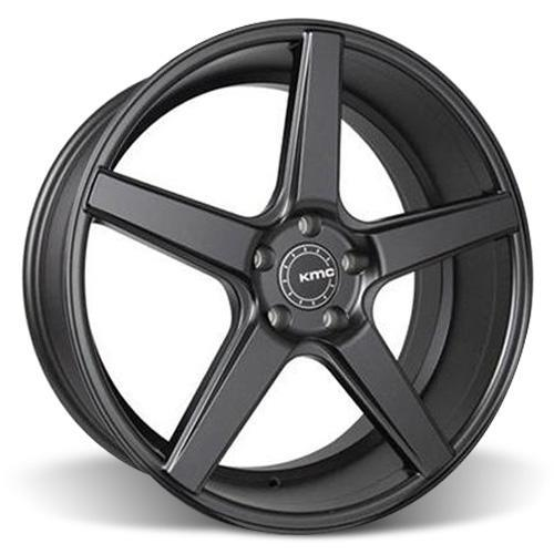 KMC Mustang 685 District Wheel & Tire Kit - 20x8.5/10.5  Satin Black (05-14) Nitto Invo
