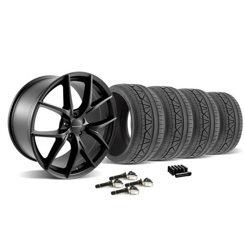 2015-2016 Mustang KMC 694 Wishbone Wheel & Nitto Invo Tire Kit