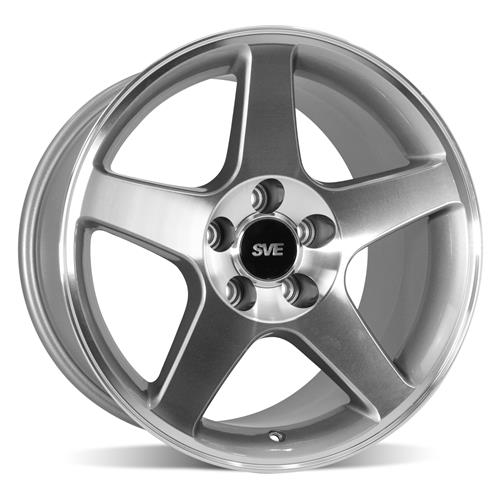 SVE Mustang 2003 Cobra Style Wheel & Tire Kit - 17x9/10.5  - Machined - Deep Dish (94-04) Nitto G2