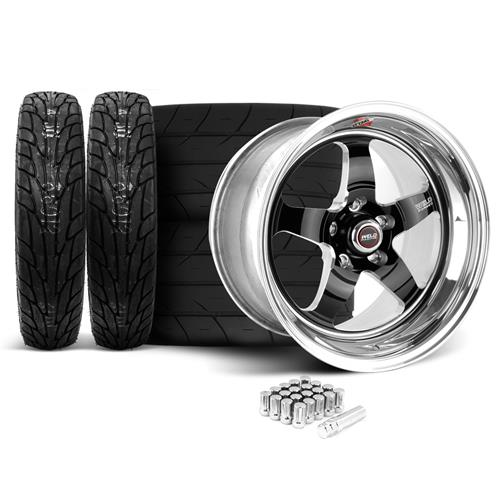 Weld Mustang RT-S Wheel & Tire Kit - 18x5/17x10 Black (05-17)