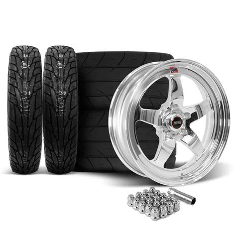 Weld Mustang RT-S Wheel & Tire Kit - 18x5/17x10  - Polished (15-18)