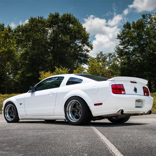 2008 Mustang Rims >> 2005 14 Mustang Weld Rt S Wheel Tire Kit 17x5 17x10 Black Mickey Thompson Et Street R Tires By Weld Racing Wheels