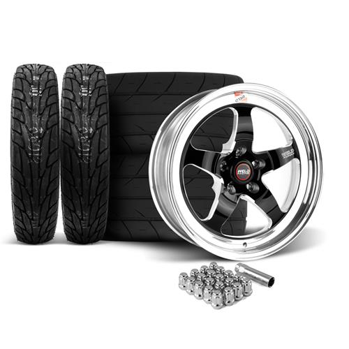 Weld Mustang RT-S Wheel & Tire Kit - 17x5/17x10  - Black (15-17)