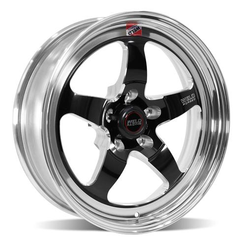 Weld Mustang RT-S Wheel & Tire Kit - 17x5/15x10 Black (05-14)