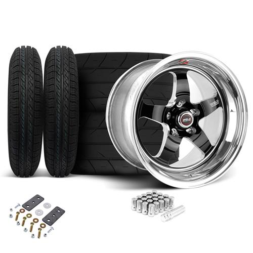 Weld Mustang RT-S Wheel & Tire Kit - 15x4/15x10 Black (05-10)