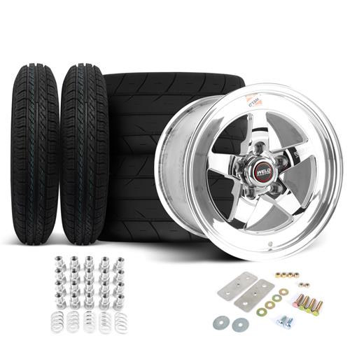 Weld Mustang RT-S Wheel & Tire Kit - 15x4/15x10 (05-10)