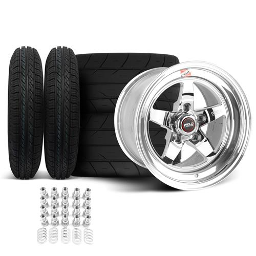 Weld RT-S Mustang Wheel & Tire Kit - 15x10/4  - Polished (94-04)