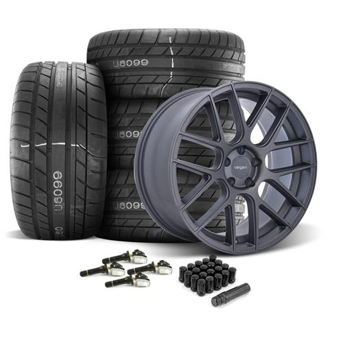 Velgen Mustang VMB7 Wheel & Tire Kit - 20x9/10.5  - Gunmetal - M/T Street Comp Tires (15-17)