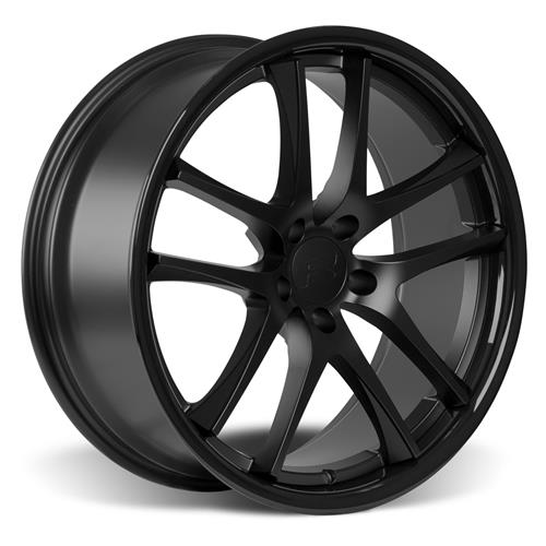 Rovos Mustang Cape Town Wheel & Tire Kit- 20x8.5/10  - Satin Black - NT555 G2 Tires (15-17)
