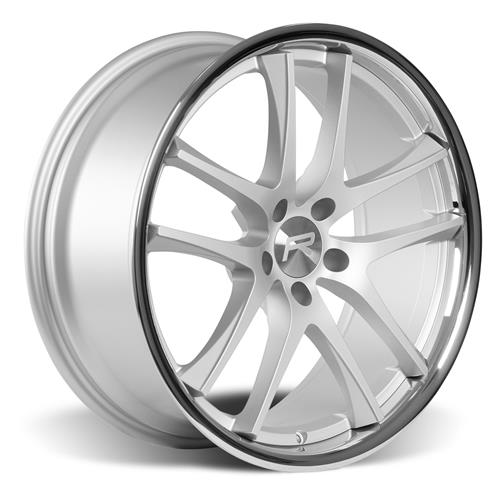 Rovos Mustang Cape Town Wheel & Tire Kit- 20x8.5/10  - Satin Silver - Ohtsu Tires (15-17)