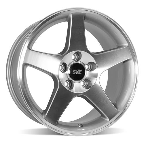 SVE Mustang 2003 Cobra Style Wheel & Tire Kit - 17x9 - Machined (94-04) Nitto G2