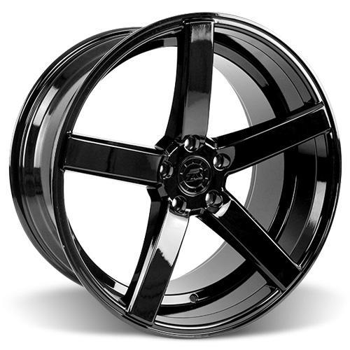 Mustang DF5 Wheel & Tire Kit - 20x8.5/10 Piano Black (15-16) Ohtsu