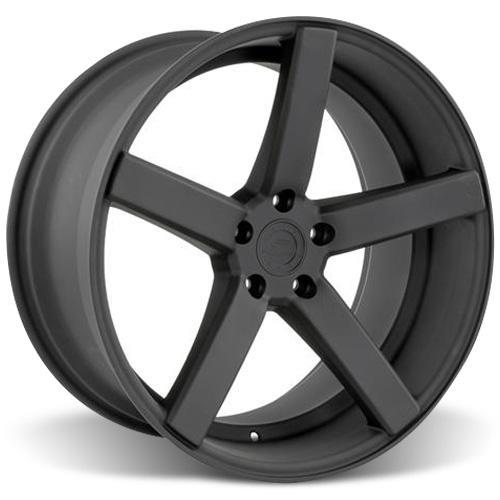 Mustang DF5 Wheel & Tire Kit - 20x8.5/10 Flat Black (15-16) Ohtsu