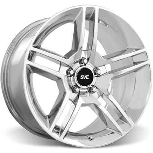 SVE Mustang GT500 Wheel & Tire Kit - 18x9/10 Chrome (05-14) Nitto NT555