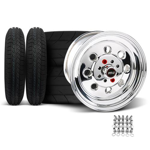 Weld Mustang Draglite Wheel & Tire Kit - 15X3.5/10 (79-93) Nitto NT555R