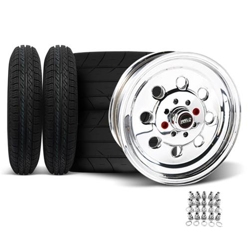 Weld Mustang Draglite Wheel & Tire Kit - 15X3.5/8 (79-93) Nitto NT555R