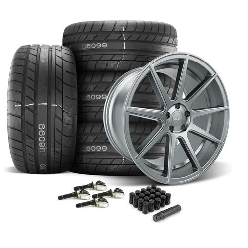 Velgen Mustang VMB9 Wheel & Tire Kit - 20x9/10.5  - Matte Gunmetal - M/T Street Comp Tires (15-17)