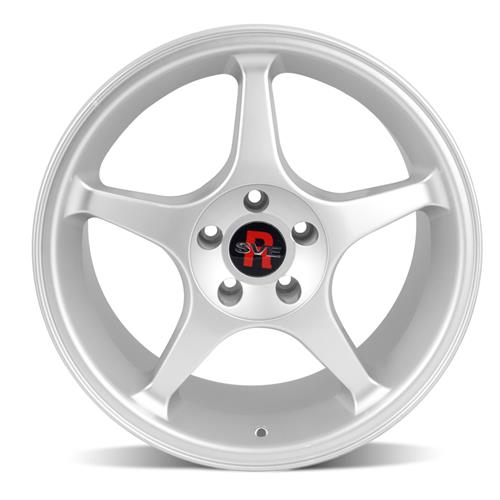 SVE Mustang 2000 Cobra R Style Wheel & Tire Kit - 18x9.5 Silver (94-04) NT555